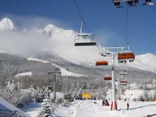 Tatranská Lomnica je oblíbeným lyžařským letoviskem